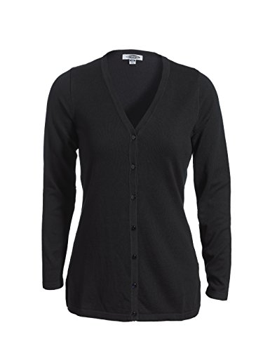 Averill's Sharper Uniforms Women's Ladies Feather Weight Long Cardigan Sweater Medium Black (Featherweight Long Cardigan)