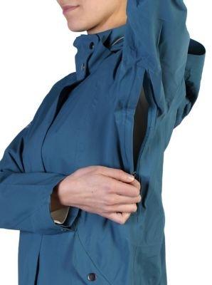 ExOfficio Women's Rain Logic Trench Jacket, Marina, X-Small