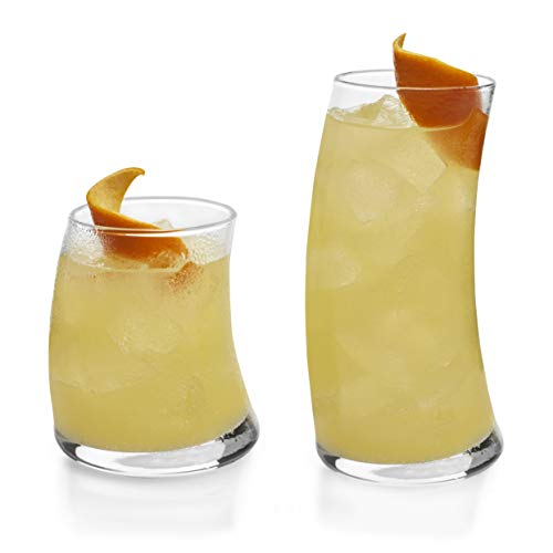 Libbey Swerve 16-Piece Tumbler and Rocks Glass Set ()