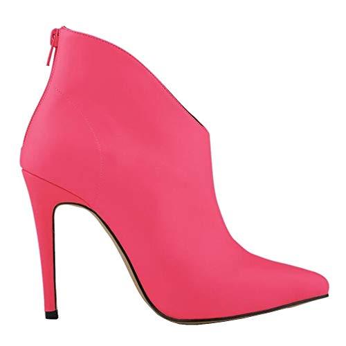 EU 5 Rouge Renly 1 36 Femme Bottes pour Ni769 Rouge Rose OnUq1wv