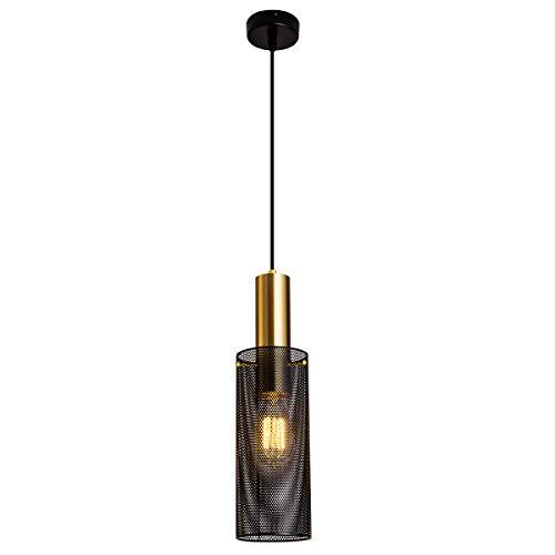Modern Black Pendant Lighting Fixture, Metal Caged Ceiling Pendant Lighting for Kitchen Island Bedroom Living Room…