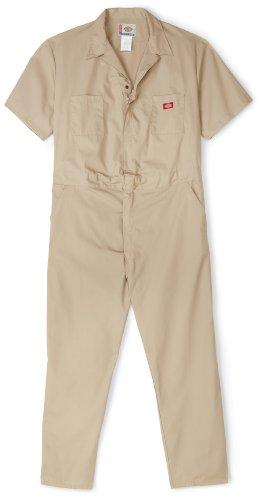 Dickies Men's Short Sleeve Coverall, Khaki, Extra Large-Regular
