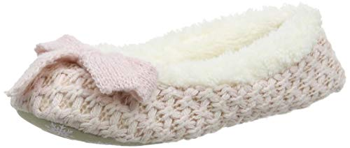 pink Slippers Ballet Rosa Donna Pantofole Ladies Waffle Knit Totes Pnk Uqw6I88