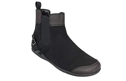 Xero Shoes Vienna - Women's Canvas Ankle Boots - Barefoot Inspired Minimalist Zero Drop Chelsea Style Boot - Black