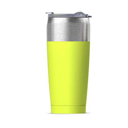 asobu Tied Tumbler High Performance Double Walled Insulated Stainless Steel Travel Coffee Mug - Large 20 Ounce Coffee Cup (Lime)
