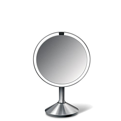 best simplehuman 6.5 inch Sensor Mirror - Sensor-Activated Lighted Vanity Mirror, 7x Magnification