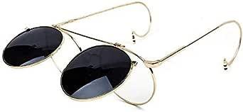 نظارات شمسية نمط عصري Steampunk إطار من خليط معدني رجالي, أسود,