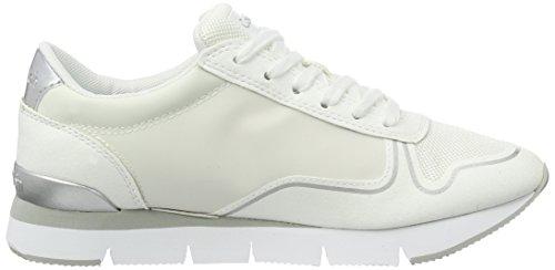 Low Nylon Women's Sneakers Klein Jeans White Tori Calvin Reflex Microfiber Top P07pqWBf