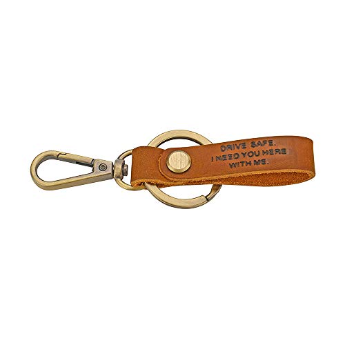 FY Drive Safe Leather Keychain I Need You here with me be Safe Keychain Gift for Father Trucker Husband