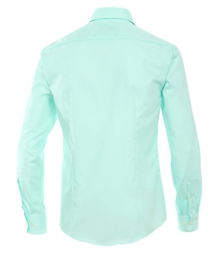 Venti - Slim Fit - Bügelfreies Herren Langarm Hemd in verschiedenen Farben (001480), Kragenweite:38;Farbe:Grün (304)