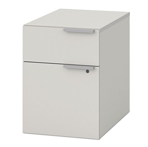 HON Voi Mobile Box/File Pedestal, 15 3/4w x 19 3/4d x 28 3/8h, Brilliant White
