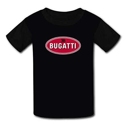 Youth Cool T-Shirt B-ugatti Car Logo 3D Print Short Sleeve Top Tees Black L