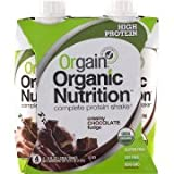 Orgain Organic Nutrition Creamy Chocolate Fudge Complete Protein Shake, 11 fl oz, (Pack of 4)