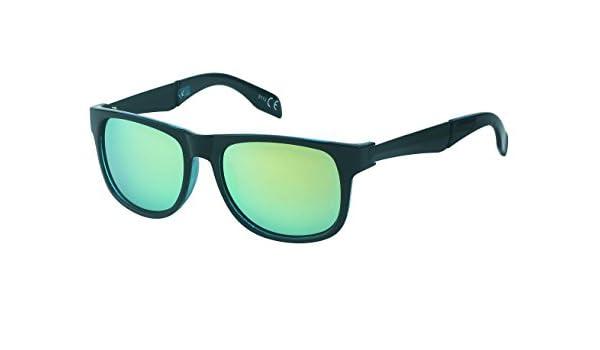 Chic Gafas de sol Negro neto colorido espejo 400 UV Wayfarer ...