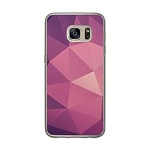 Loud Universe Samsung Galaxy S7 Geomaterical Files A Geo 10 Transparent Edge Case - Purple/Pink