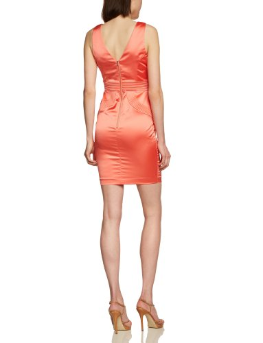 Jane Norman - Vestido mini sin mangas para mujer Coral