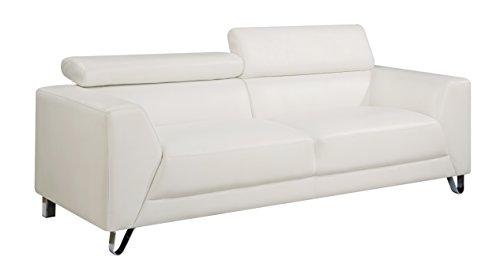 Global Furniture U8210 - Pluto White - Sofa Pluto Sofa, White
