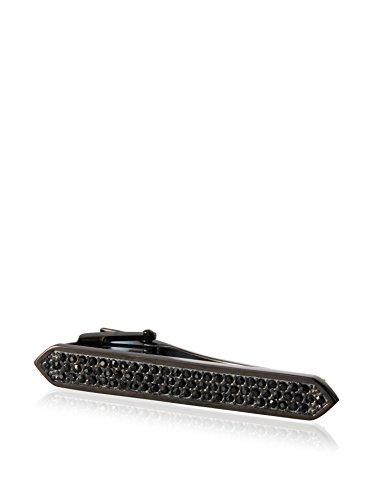 BlackJack Stainless Steel CZ Tie Clip, One Size by Blackjack Jewelry