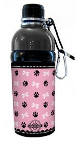Good Life Gear Stainless Steel Pet Water Bottle, 16-Ounce, Puppy Princess Pink Design by Good Life Gear