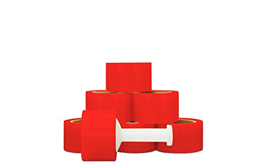 Self-Adhering Red Color Narrow Banding Stretch Wrap 3 Inch x 1000 Feet x 80 Gauge 18 Rolls