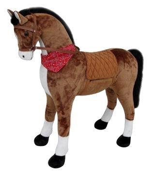 Sweety Toys 11525 GIANT XXL Riesen Pferd Plüschpferd Chocolate Stehpferd