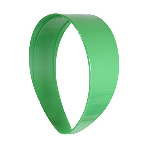 Grass Green 2 Inch Hard Plastic Headband with Teeth