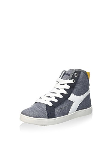 Diadora Unisex-Kinder Game Canvas H Jr High-Top, Grau/Weiß, 37 EU