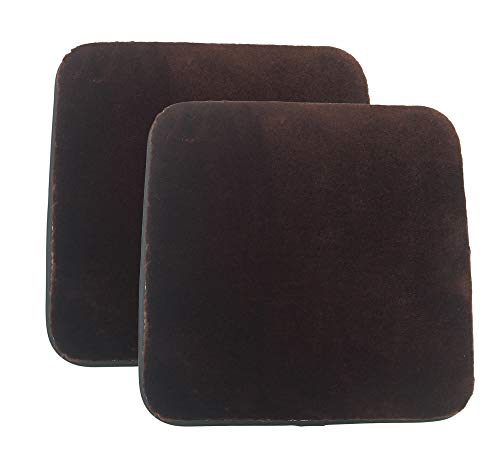 Sigmat Plush Square Seat Cushion for Bar Stool or Chair Pad with Buckle Coffee 14