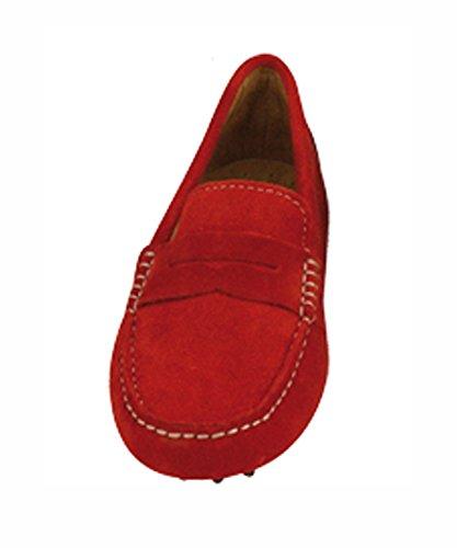 Linea Scarpa Mokassin Cadiz Summer Damen Leder Rot