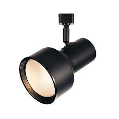Black Step Cylinder - Hampton Bay R30 Cylinder Track Head Light Black