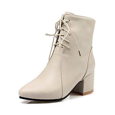 Desy zapatos sintética de la mujer otoño invierno comodidad Novelty Moda Botas Botas Botas Chunky tacón ...