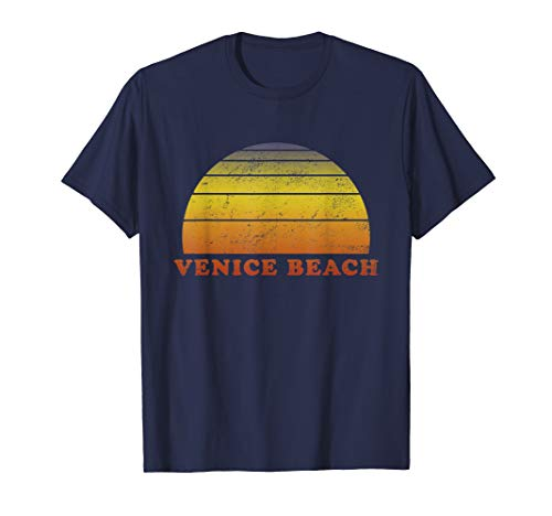 Venice Beach Retro Vintage T Shirt 70s Throwback Surf Tee (Venice Beach Girl)