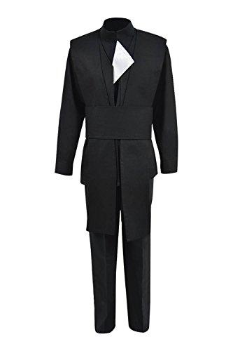 (TISEA Men's Skywalker Jedi Luke Cosplay Costume Halloween Outfit Ver.2 (XL, Black Luke Skywalker Costume))