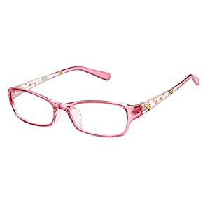 Agstum Kids Classic Rectangle Optical Frame Girls Boys Glasses Clear Lens (Pink)