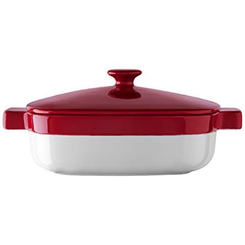KitchenAid KBLR19CRER Streamline Ceramic 1.9-Quart Casserole Bakeware - Empire Red