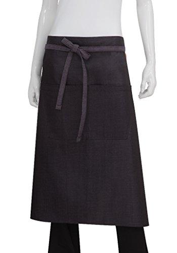 Chef Works Unisex Boulder Bistro Apron, Purple/Black, One Size