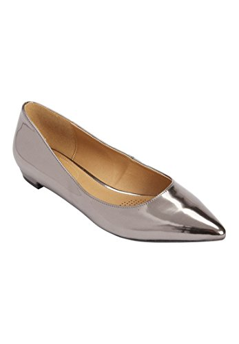 Comfortview Womens Wide Oliva Leather Simil Canna Di Fucile