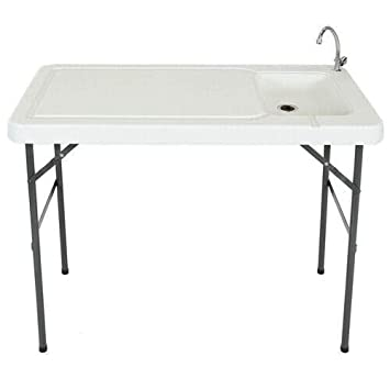 Amazon Com Mobile Portable Cutting Cleaning Table With A