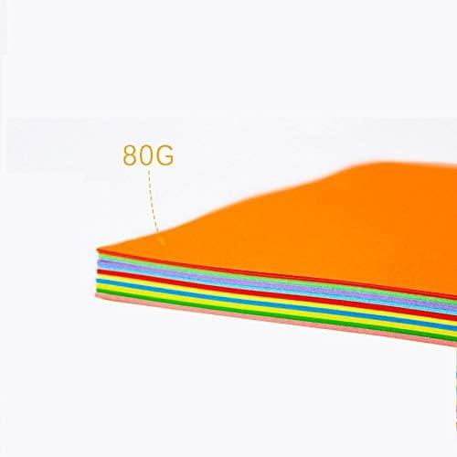 Druckerpapier A4 BLTLYX Bunte Papier Falten A4 Farbe Papier Diy Karte Papier Kinder Karte Papier 100 Stück 210*-297mm 10 Farben