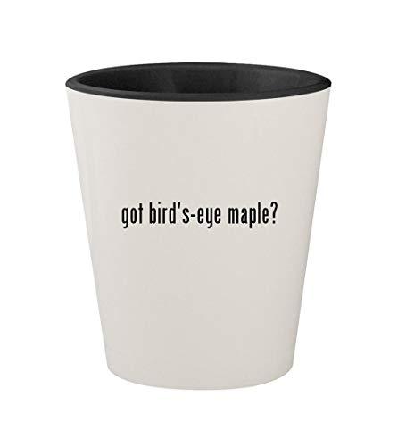 got bird's-eye maple? - Ceramic White Outer & Black Inner 1.5oz Shot Glass