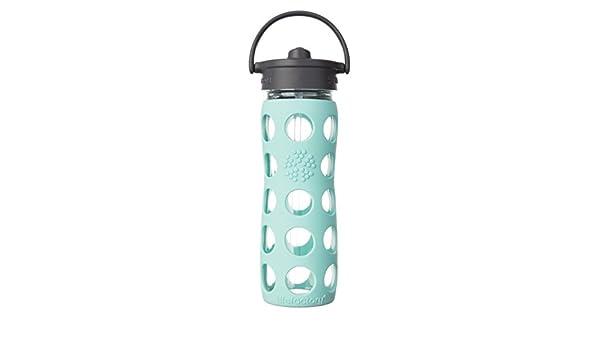 Botellas de cristal lifefactory con paja Cap 475 ml, turquesa ...