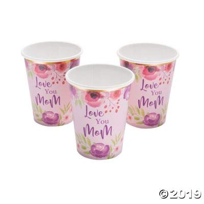 MOTHERS DAY PAPER CUP - Party Supplies - 8 Pieces: Toys & Games