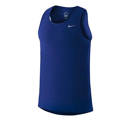 Nike Dri-Fit Contour Singlet - Men's Game Royal/Reflective Silver, - Mapped Dri Nike Fit
