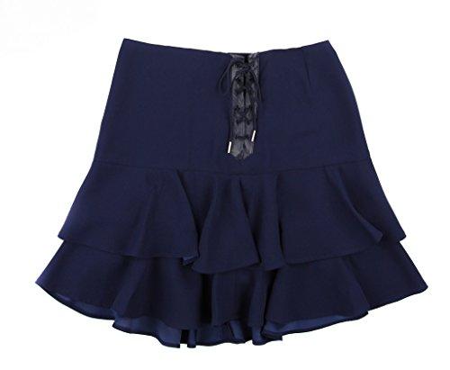 Lauren Ralph Lauren Ruffled Crepe Skirt Navy 12 (16)