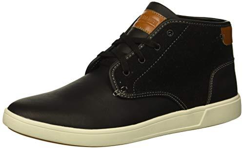 Steve Madden Men's Ferro Sneaker, Black Fabric, 9.5 M US