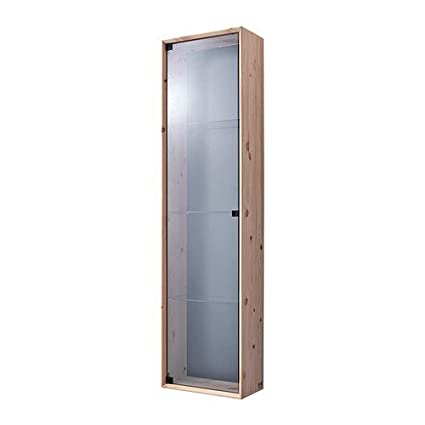 Amazon Ikea Glass Door Wall Cabinet Pine 14 58x56 14