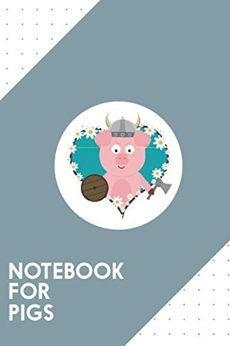 (Notebook for Pigs: Dotted Journal with Viking Swine in flower heart Design - Cool Gift for a friend or family who loves wedding presents! | 6x9