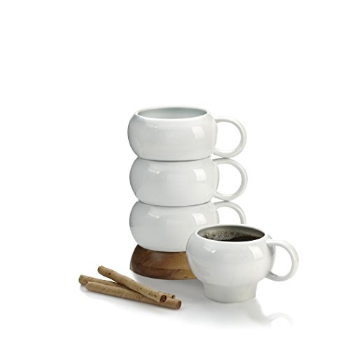 Nambe Bulbo Mug Stack, Set of 4