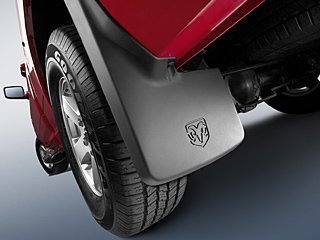 Truck Mopar Molded Splash Guards For Trucks Without Fender Flares Mud Flaps - Front & Rear - Set of 4 ()