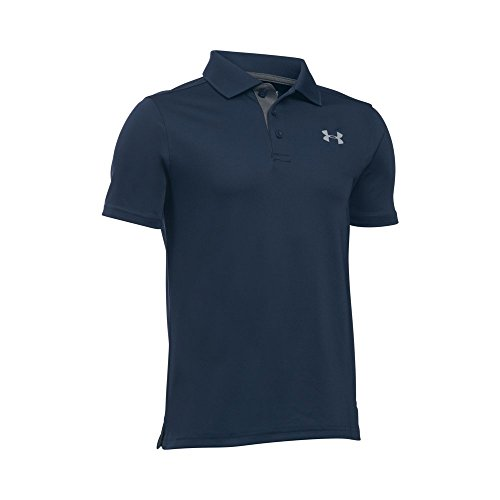 Under Armour Boys' Match Play Polo Shirt, Academy/Carbon Heather, Youth X-Large